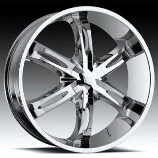 VISION WHEELS  HOLLYWOOD 6 436 RWD CHROME RIM