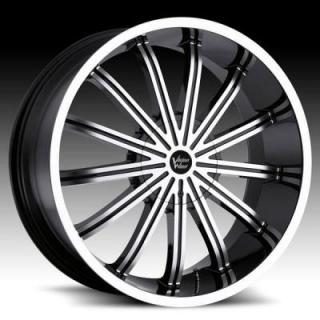 VISION WHEELS  XTACY 456 RWD GLOSS BLACK RIM with MACHINED FACE
