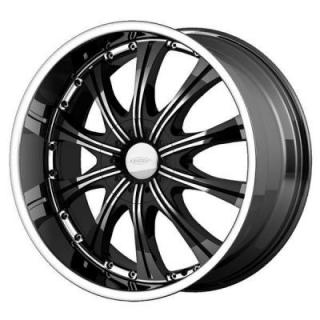 SPECIAL BUY WHEELS  DIAMO DI 30 KARAT BLACK MACHINED WHEEL PPT