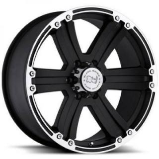 SPECIAL BUY WHEELS  BLACK RHINO DUNE MATTE BLACK/MACHINE PPT