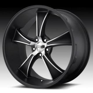 SPECIAL BUY WHEELS  AMERICAN RACING VN805 BLVD SATIN BLACK RIM with MACHINED ACCENTS PPT