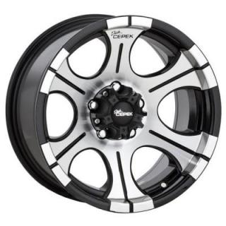 DC-2 BLACK RIM with MACHINED FACE by DICK CEPEK WHEELS