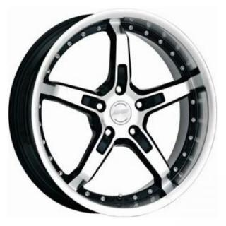 SPEEDY WHEELS  INFERNO BLACK RIM with MACHINED FACE