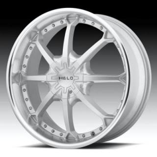 SPECIAL BUY WHEELS  HELO WHEELS HE871 SILVER RIM with MACHINED LIP PPT
