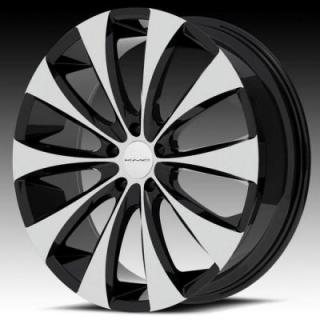 SPECIAL BUY WHEELS  KMC KM679 FADER GLOSS BLACK RIM with MACHINED FACE PPT