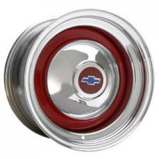 HRH STEEL WHEELS  SMOOTHIE BARE CENTER RIM with CHROME OUTER
