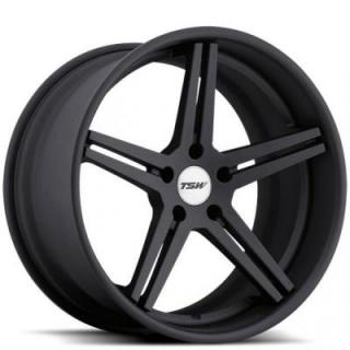 MIRABEAU MULTI PIECE MATTE BLACK RIM by TSW WHEELS