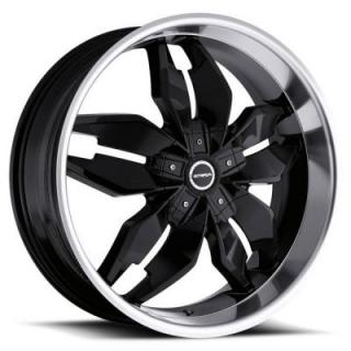 STRADA WHEELS  FORCHETTA BLACK MACHINED RIM