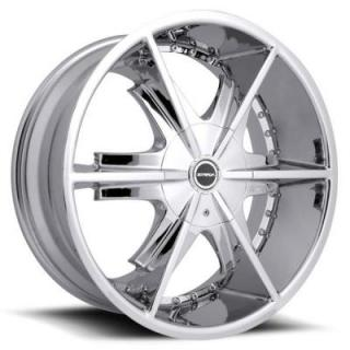 PISTOLA CHROME RIM from STRADA WHEELS