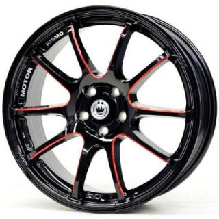 ILLUSION BLACK RED BALL CUT MACHINED SPOKES from KONIG WHEELS