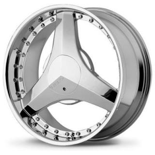 HELO WHEELS  HE357 CHROME RIM