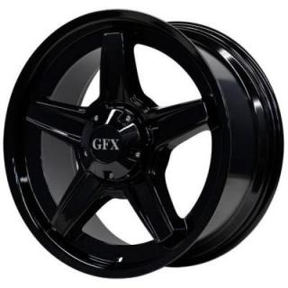 SPECIAL BUY WHEELS  GFX TR-1 FULL GLOSS BLACK - A GREAT WINTER WHEEL