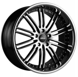 VERTINI WHEELS   HENNESSEY BLACK RIM with MACHINED FACE and CHROME LIP