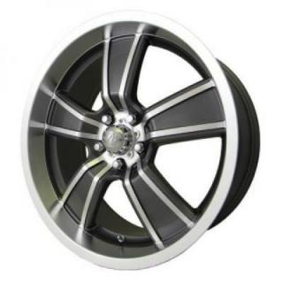 SPECIAL BUY WHEELS  B&G GASSER GUNMETAL RIM with MACHINED FACE DISPLAY SET 1 SET ONLY