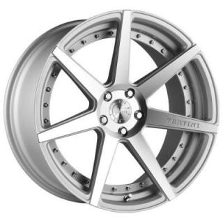 VERTINI WHEELS   DYNASTY SILVER RIM with MACHINED FACE
