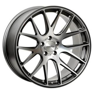 ALLIES MATTE GRAPHITE RIM with MACHINED POLISHED FACE from AXIS WHEELS
