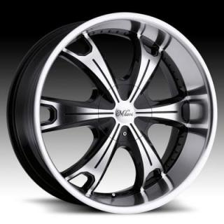 SPECIAL BUY WHEELS  MILANNI WHEELS - STELLAR 452 GLOSS BLACK/MACHINED PPT