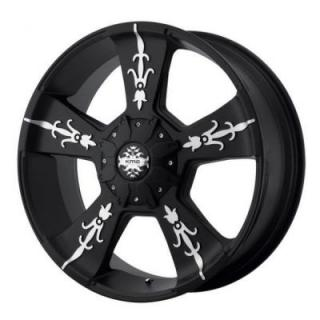 SPECIAL BUY WHEELS  KMC WHEELS - KM668 VANDAL MATTE BLACK PPT