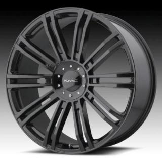 SPECIAL BUY WHEELS  KMC KM677 D2 GLOSS BLACK RIM PPT