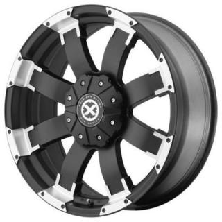 ATX SERIES WHEELS  AX191 SHACKLE SATIN BLACK RIM with MACHINED ACCENTS