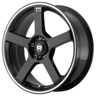 MR116 GLOSS BLACK RIM with MACHINED STRIPE from MOTEGI RACING WHEELS