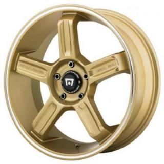 MR122 GOLD RIM with MACHINED LIP GROOVE from MOTEGI RACING WHEELS