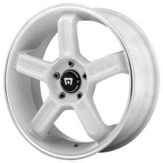 MR122 WHITE RIM with MACHINED LIP GROOVE from MOTEGI RACING WHEELS