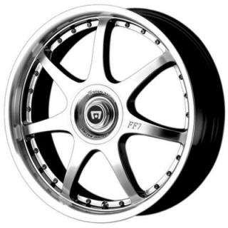 MR237 FF7 SILVER RIM from MOTEGI RACING WHEELS