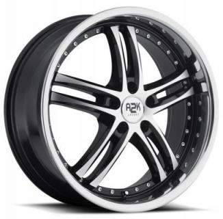 REV WHEELS  A2K 720 SILVER RIM with BLACK TRIM and STAINLESS STEEL LIP
