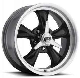 REV WHEELS  CLASSIC 105 BLACK RIM with MACHINED LIP