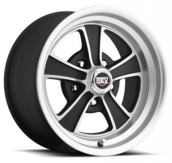 REV WHEELS  CLASSIC 106 MATTE BLACK RIM with MACHINED FACE 15