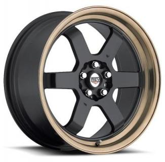 FWD 269 BLACK RIM with BRONZE LIP from REV WHEELS