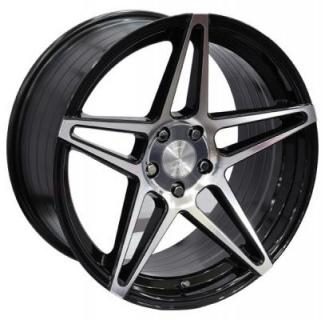 SPEEDY WHEELS  GLARE BLACK RIM with MACHINED FACE