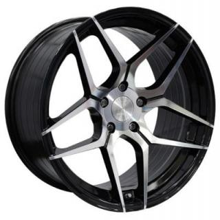 SPEEDY WHEELS  DOMINATOR BLACK RIM with MACHINED FACE