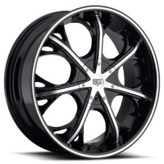 REV WHEELS  FWD 282 BLACK RIM with MACHINED FACE