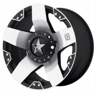 XD SERIES WHEELS  XD775 ROCKSTAR BLACK RIM with MACHINED FACE