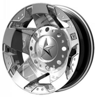 XD SERIES WHEELS  XD775 DUALLY ROCKSTAR CHROME REAR RIM