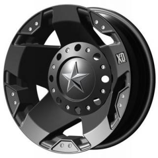 XD SERIES WHEELS  XD775 DUALLY ROCKSTAR MATTE BLACK REAR RIM