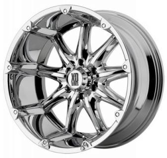 XD SERIES WHEELS  XD779 BADLANDS CHROME RIM