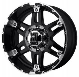 XD SERIES WHEELS  XD797 SPY GLOSS BLACK RIM with MACHINED ACCENTS