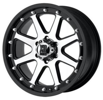 XD SERIES WHEELS  XD798 ADDICT MATTE BLACK RIM with MACHINED FACE