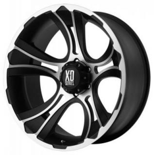 XD SERIES WHEELS  XD801 CRANK BLACK RIM with MACHINED FACE