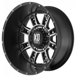 XD SERIES WHEELS  XD809 RIOT MATTE BLACK RIM with MACHINED ACCENTS
