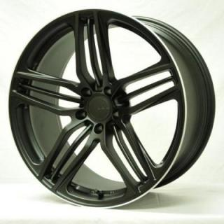 VOLK RACING WHEELS - Triniti-V -  Matte Black/Flange Diamond Cut by VOLK RACING