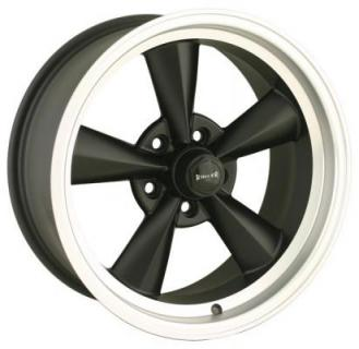 RIDLER WHEELS  STYLE 675 BLACK RIM with MACHINED RING