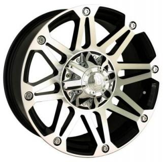 MAYHEM WHEELS  RIOT BLACK RIM with MACHINED FACE