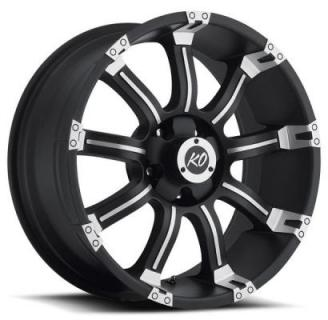 REV WHEELS  OFFROAD 865 KUTTER BLACK RIM with MACHINED FACE