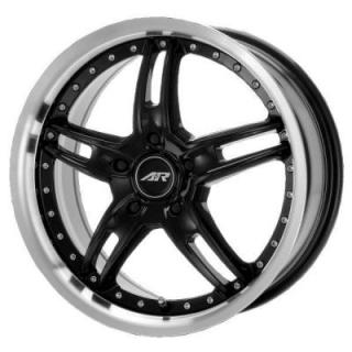 SPECIAL BUY WHEELS  AMERICAN RACING - AR371 SANTA CRUZ BLACK RIM with MACHINED LIP PPT