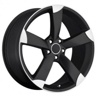 FACTORY REPRODUCTIONS WHEELS  AUDI A5 STYLE 85 BLACK RIM with MACHINED ACCENTS