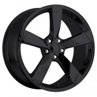FACTORY REPRODUCTIONS WHEELS  AUDI A5 STYLE 85 GLOSS BLACK RIM